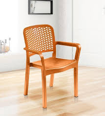 Luxury Chairs Buy Luxury Plastic Chair In Orange Colour By Italica Furniture