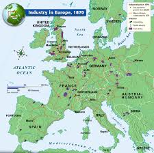 Europe 1815 Map by Industry In Europe 1870 Second Industrial Revolution And The New