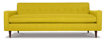 fabulous single cushion sofa with mid century modern jefferson