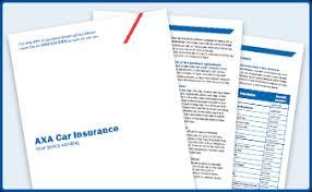 car insurance policy details axa uk