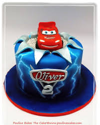 lightning mcqueen cake electrifying lightning mcqueen with airbrushed lightning effect
