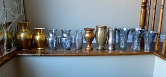 Mercury Glass Urn Vase Set Of Vases Gold Mercury Glass Silver Bronze Mix Wedding
