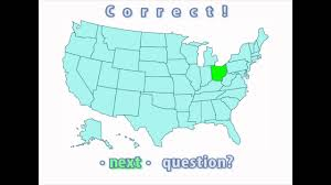 Usa States Map Quiz by Interactive United States Map Quiz Correct Ohio Location Youtube