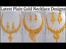 golden necklace new design images Latest simple gold necklace designs jpg