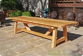 Wood Patio Table Contemporary Wood Patio Dining Set For Outdoor Furniture