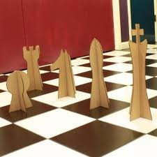 giant chess game pieces chess and board