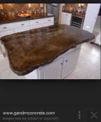 How To Build A Concrete Bar Top Wood Kitchen Countertops Surprise It U0027s Concrete Counter Top