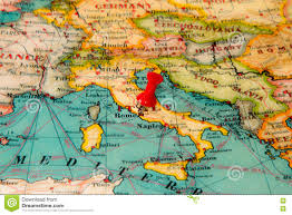 Bari Italy Map by Rome Italy Pinned On Vintage Map Of Europe Stock Photo Image