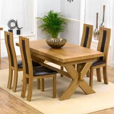 Solid Oak Dining Table Dining Room Red Dining Chairs Dining Furniture Wood Dining Table