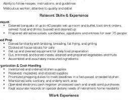 resume line cook resume skills awesome cooking resume 7 prep