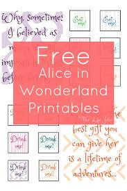alice in wonderland signs and free printables free printables