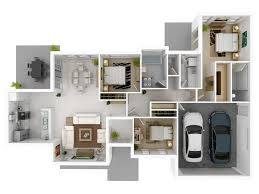 3 bedroom floor plans with garage 20 designs ideas for 3d apartment or one storey three bedroom floor