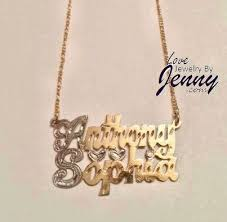 Name Plates Necklaces 16 Best Gold Name Necklaces Images On Pinterest Bamboo Diamond