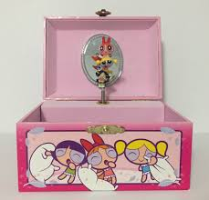 themed jewelry box 2002 powerpuff musical jewelry box pink working fur elise