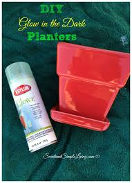 glow in the spray paint diy glow in the planters sweet and simple living