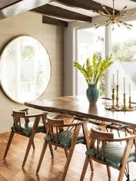 Mid Century Modern Dining Room Furniture by 7 Beautiful Bohemian Dining Rooms We Love Blue Walls Clutter