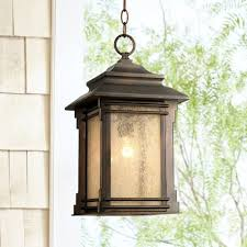 outdoor rustic lighting franklin iron works hickory point 19 1 4