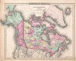 A Map Of Canada by 1857 Map Of Canada Russian Alaska And Greenland 3500x2528