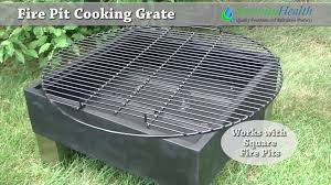 fire pit topper fire pit cooking grate demo by serenity health youtube