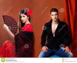 gipsy flamenco dancer couple from spain royalty free stock images