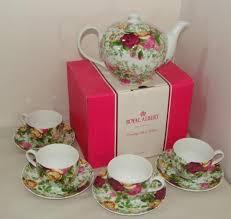 country roses tea set new royal albert country roses 9 pc chintz tea set teapot 4
