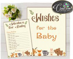 Woodland Forest Peel And Stick Wishes For Baby Activity Advice Woodland Baby Shower With Forest