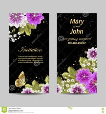 Designing Invitation Cards Set Of Wedding Invitation Cards Design Stock Vector Image 73850201