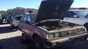 junkyard car youtube 1982 subaru gl wagon junkyard car youtube
