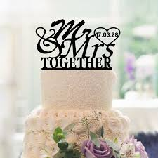 buy wedding cake click to buy wedding decoration cake toppers custom date and