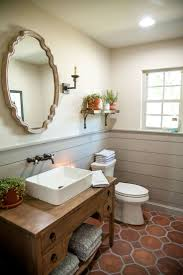 Paint Wainscoting Ideas How To Cover Dated Bathroom Tile With Wainscoting Hgtv Realie