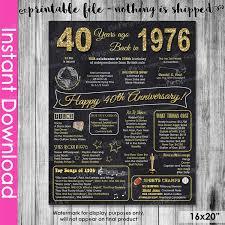 40 anniversary gift 40th anniversary gift instant 40th wedding anniversary