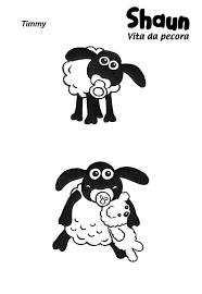 baby timmy shaun sheep coloring color luna