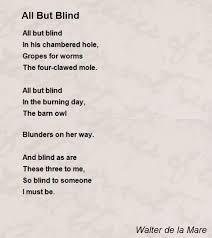 The Blind Owl Sparknotes All But Blind Poem By Walter De La Mare Poem Hunter