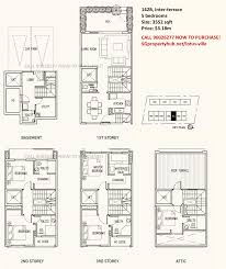 the seawind floor plan lotus ville at telok kurau freehold townhouses with 5 bedrooms