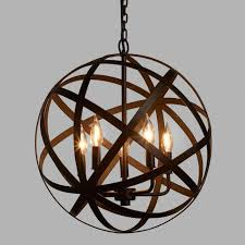 Chandelier Metal Metal Orb Chandelier World Market