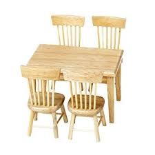 Wood Dining Room Chair Amazon Com Lowpricenice 5pcs Wooden Dining Table Chair Model Set