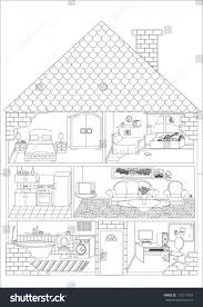 house outline with rooms