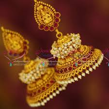 earring online j3432 temple laxmi indian jewellery god design gold plated
