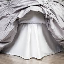 white bed skirt soft white pleated bed skirt crane u0026 canopy