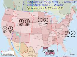 Map Of The United States With States by Ontimezone Com Time Zones For The Usa And North America