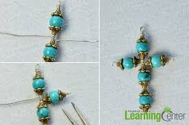 bead cross pendant necklace images Pandahall tutorial on how to make a simple cross pendant necklace jpg