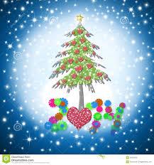 beautiful christmas cards beautiful christmas card 2014 with shiny hearts tree stock