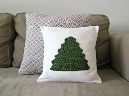 crochet christmas decor diy crochet tree pillow