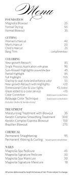 hair salons jc penny price list salon menu classic floral hair salon stylist by verymaryk