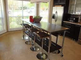 stainless steel kitchen island with seating long narrow kitchen