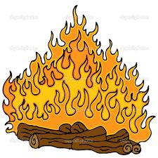 bonfire clipart fireplace fire pencil and in color bonfire