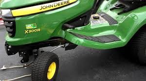 john deere x300r tractor u0027s mower belt replacement youtube