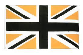 3 X 5 Flags Union Jack Black Gold 3x5 Ft Flag 90x150 Cm Royal Flags
