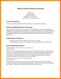 sample resume for medical assistant sample resume medical