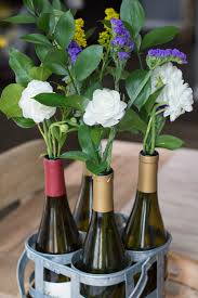 flowers wine flowers in wine bottles cambria winery